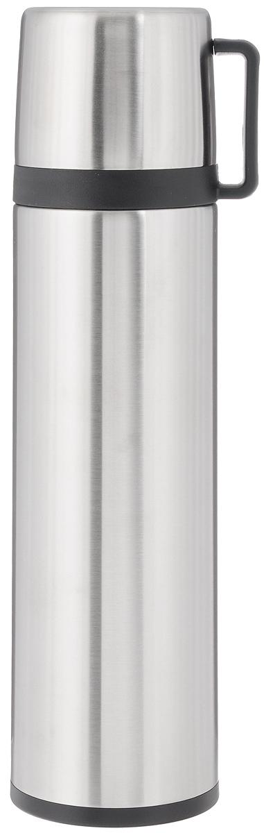Термос Tescoma Constant, с крышкой-кружкой, 1 л24911Термос Tescoma Constant предназначен для хранения теплых и холодных напитков на длительное время. Изделие изготовлено из пластика и высококачественной нержавеющей стали с двойной колбой. Пробка плотно закручивается, а благодаря вакуумной кнопке внутри создается абсолютная герметичность, что предотвращает проливание напитков. Термос оснащен завинчивающейся крышкой, которая может выполнять функцию кружки с ручкой. Нельзя мыть в посудомоечной машине.Диаметр горлышка по верхнему краю: 5 см. Диаметр основания: 8,5 см. Высота термоса: 31,5 см.Диаметр крышки-кружки по верхнему краю: 8 см. Высота стенки крышки-кружки: 7,5 см.