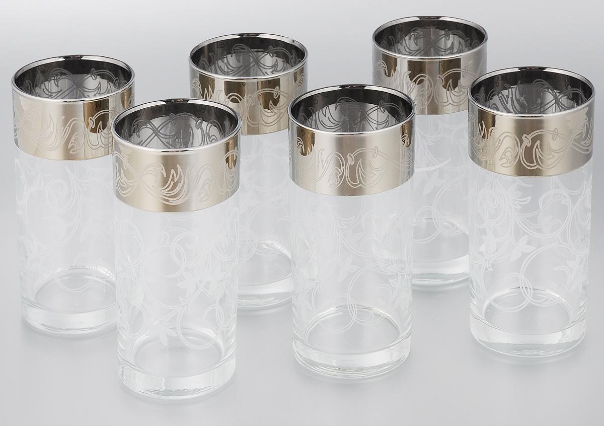 Набор стаканов для сока Мусатов Шарм, 290 мл, 6 штVT-1520(SR)Набор Мусатов Шарм состоит из 6 стаканов, изготовленных из высококачественного натрий-кальций-силикатного стекла. Изделия оформлены красивой широкой окантовкой с оригинальным орнаментом. Стаканы предназначены для подачи сока, а также воды и коктейлей. Такой набор прекрасно дополнит праздничный стол и станет желанным подарком в любом доме. Разрешается мыть в посудомоечной машине. Диаметр стакана (по верхнему краю): 6 см. Высота стакана: 13,5 см.