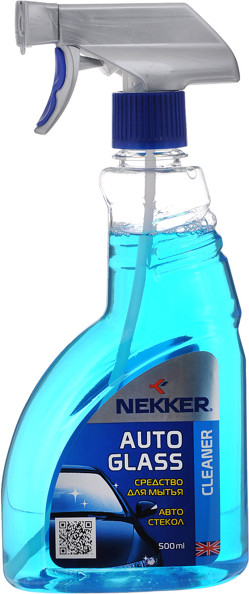 Средство для мытья автомобильных стекол Nekker, 500 млRC-100BPCСовременное высокоэффективное средство Nekker предназначено для мытья автомобильных стекол и зеркал, хромированных и никелированных поверхностей, а также деталей из нержавеющей стали. Может применяться для очистки пластиковых фар головного света и фонарей автомобиля. Не способствует помутнению фар.Состав: изопропанол, неионогенное поверхностно-активное вещество, нашатырный спирт, краситель, отдушка, вода.Товар сертифицирован.