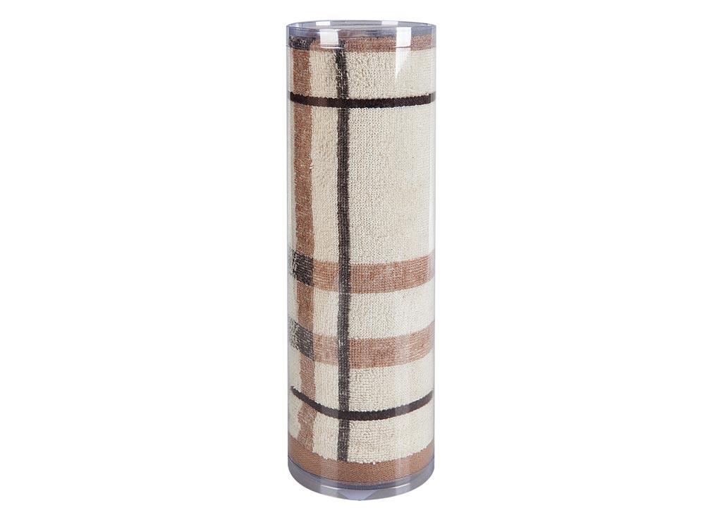 Полотенце махровое Soavita Омега, цвет: бежевый, 50 х 90 см soavita eo 50 90