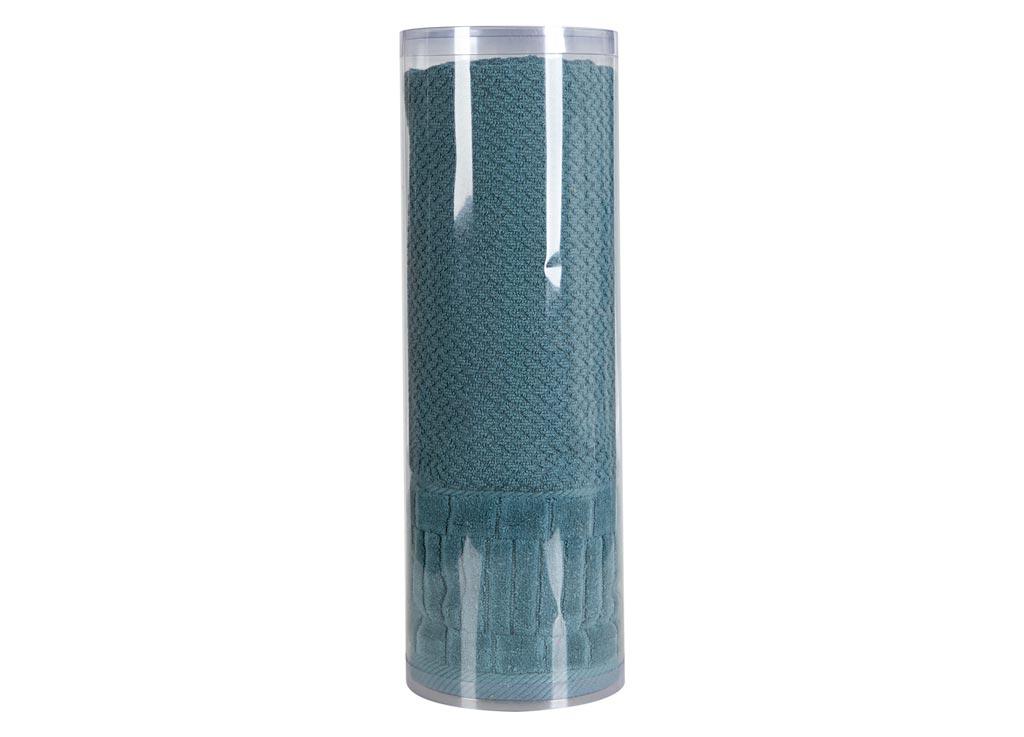 Полотенце махровое Soavita Eo. Mineola, цвет: темно-бирюзовый, 70 х 140 см soavita eo 50 90