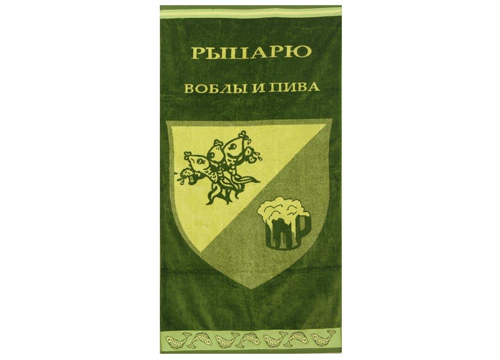 Полотенце Soavita Premium. Рыцарь, цвет: зеленый, желтый, 70 х 140 см68/5/1Перед использованием постирать при температуре не выше 40 градусов