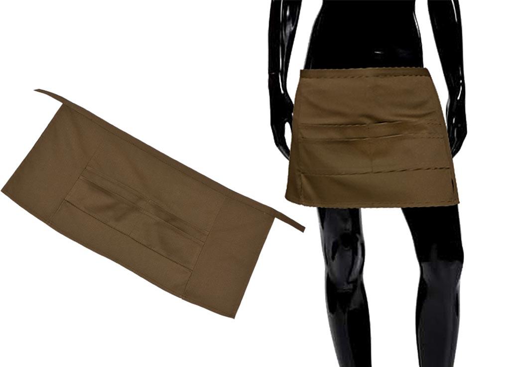 Передник Soavita, цвет: коричневый, 67 х 32 смVT-1520(SR)Перед использованием постирать при температуре не выше 40 градусов