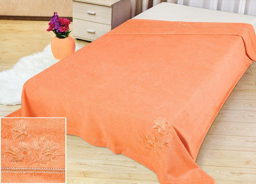 Покрывало Soavita Бамбук, цвет: персиковый, 150 х 200 смES-412Махровое покрывало Soavita Бамбук изготовлено из экологически чистого натурального хлопка, поэтому подходит как для взрослых, так и для детей. Оно будет хорошо смотреться и на диване, и на большой кровати. Благодаря яркому и необычному дизайну, покрывало не только подарит тепло, но и гармонично впишется в интерьер комнаты.Махровое полотно создается из хлопковых нитей, которые, в свою очередь, прядутся из множества хлопковых волокон. Чем длиннее эти волокна, тем прочнее будет нить, и, соответственно, изделие. Длина составляющих хлопковую нить волокон влияет и на фактуру получаемой ткани: чем они длиннее, тем мягче и пушистее получится махровое изделие, тем лучше будет впитывать изделие воду. Хотя на впитывающие качество махры - ее гигроскопичность, не в последнюю очередь влияет состав волокна. Мягкая махровая ткань отлично впитывает влагу и быстро сохнет.