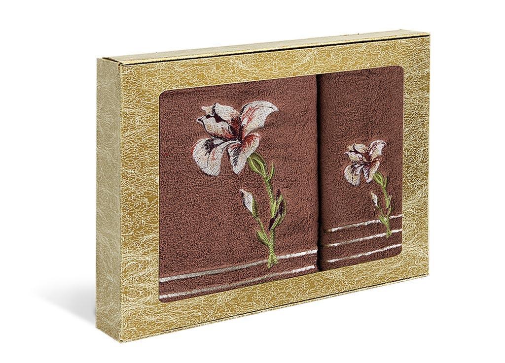 Набор полотенец Soavita Iris, цвет: коричневый, 2 шт391602Набор Soavita Iris состоит из двух полотенец разного размера, которые выполнены из 100% хлопка. Изделия отлично впитывают влагу, быстро сохнут, сохраняют яркость цвета и не теряют форму даже после многократных стирок. Такие полотенца очень практичны и неприхотливы в уходе. Набор Soavita создаст прекрасное настроение и украсит интерьер в ванной комнате.