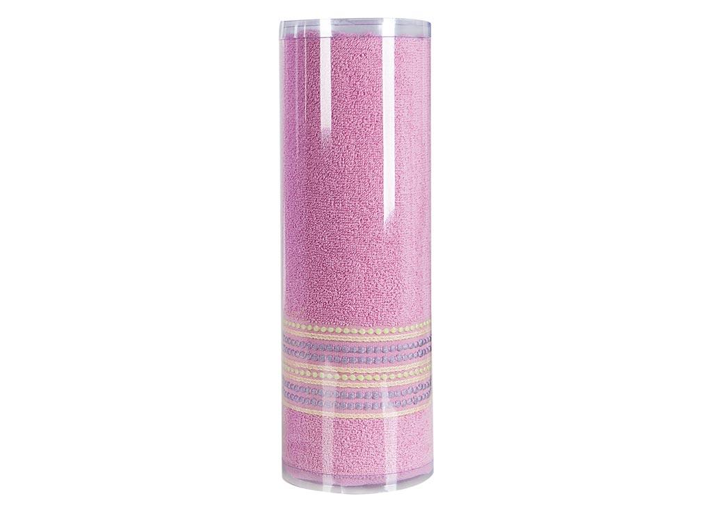 Полотенце махровое Soavita Eo. Поинт, цвет: розовый, 70 х 140 см531-401Махровое полотно создается из хлопковых нитей, которые, в свою очередь, прядутся из множества хлопковых волокон. Чем длиннее эти волокна, тем прочнее будет нить, и, соответственно, изделие. Длина составляющих хлопковую нить волокон влияет и на фактуру получаемой ткани: чем они длиннее, тем мягче и пушистее получится махровое изделие, тем лучше будет впитывать изделие воду. Хотя на впитывающие качество махры – ее гигроскопичность, не в последнюю очередь влияет состав волокна. Мягкая махровая ткань отлично впитывает влагу и быстро сохнет. Soavita – это популярный бренд домашнего текстиля. Дизайнерская студия этой фирмы находится во Флоренции, Италия. Производство перенесено в Китай, чтобы сделать продукцию более доступной для покупателей. Таким образом, вы имеете возможность покупать продукцию европейского качества совсем не дорого. Домашний текстиль прослужит вам долго: все детали качественно прошиты, ткани очень плотные, рисунок наносится безопасными для здоровья красителями, не линяет и держится много лет. Все изделия упакованы в подарочные упаковки.