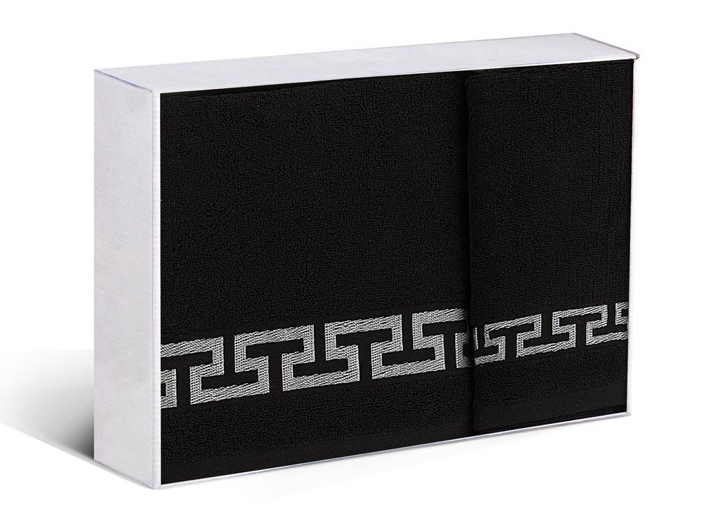 Набор полотенец Soavita Дайона, цвет: черный, 2 шт68/5/3Набор Soavita Дайона состоит из 2 махровых полотенец. Изделия выполнены из хлопка. Полотенца используются для протирки различных поверхностей, также широко применяются в быту.Такой набор станет отличным вариантом для практичной и современной хозяйки.Махровое полотно создается из хлопковых нитей, которые, в свою очередь, прядутся из множества хлопковых волокон. Чем длиннее эти волокна, тем прочнее будет нить, и, соответственно, изделие. Длина составляющих хлопковую нить волокон влияет и на фактуру получаемой ткани: чем они длиннее, тем мягче и пушистее получится махровое изделие, тем лучше будет впитывать изделие воду. Хотя на впитывающие качество махры - ее гигроскопичность, не в последнюю очередь влияет состав волокна. Мягкая махровая ткань отлично впитывает влагу и быстро сохнет.Размер полотенец: 45 х 80 см, 65 х 125 см.