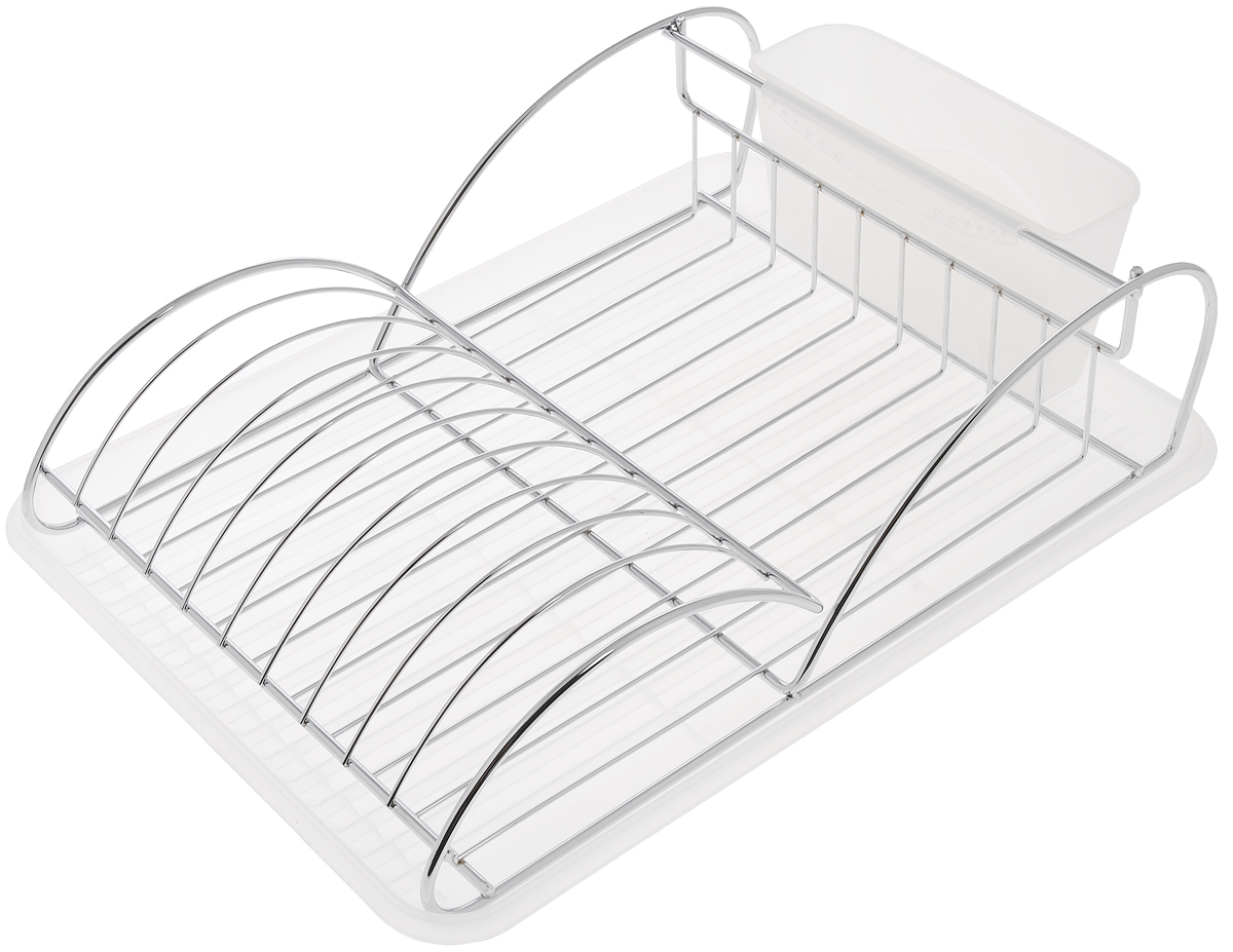 Сушилка для посуды Bekker Koch, с поддоном, 41 х 28 х 11,5 см. BK-5511115510Сушилка для посуды Bekker Koch выполнена из высококачественной нержавеющей стали и пластика. Изделие представляет собой решетку с ячейками, в которые помещается посуда, и отделение для столовых приборов. Ваши тарелки высохнут быстро, если после мойки вы поместите их в легкую, яркую, современную сушилку.Размер сушилки: 41 х 28 х 11,5 см.Размер поддона: 43 х 32 х 2 см.Размер емкости под столовые приборы: 19 х 7 х 10 см.