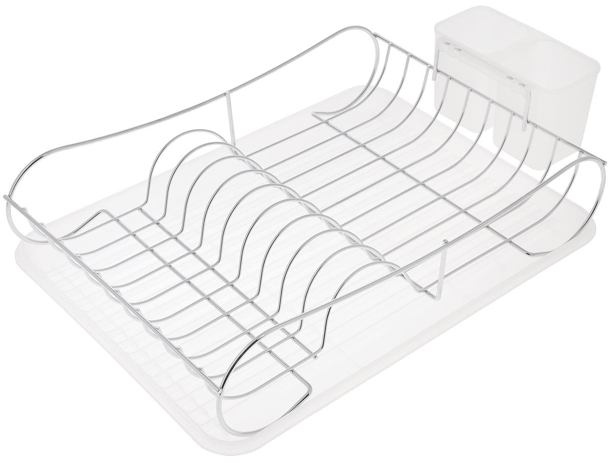 Сушилка для посуды Bekker Koch, с поддоном, 43 х 32,5 х 11,5 см. BK-55104630003364517Сушилка Bekker Koch, изготовленная из нержавеющей стали, представляет собой решетку с ячейками для посуды и подставки для столовых приборов. Изделие оснащено пластиковым поддоном для стекания воды. Сушилка Bekker Koch не займет много места на вашей кухне. Вы сможете разместить на ней большое количество предметов. Компактные размеры и оригинальный дизайн выделяют эту сушилку из ряда подобных.Размер сушилки: 43 х 32,5 х 11,5 см.Размер поддона: 43 х 32,5 х 2,5 см.Размер секции для приборов: 16 х 8,5 х 10 см.