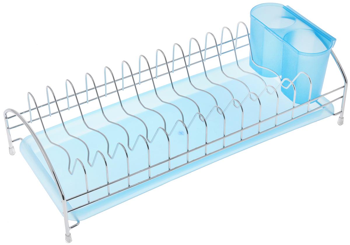 Сушилка для посуды Bekker Koch, с поддоном, 43 х 18 х 12 см. BK-5509ПЦ1556КРСушилка Bekker Koch, изготовленная из нержавеющей стали, представляет собой решетку с ячейками для посуды. Изделие оснащено пластиковым поддоном для стекания воды и поставкой под столовые приборы. Сушилка Bekker Koch не займет много места на вашей кухне. Вы сможете разместить на ней большое количество предметов. Компактные размеры и оригинальный дизайн выделяют эту сушилку из ряда подобных.Размер сушилки: 43 х 18 х 12 см.Размер поддона: 42 х 18 х 2,5 см.Размер подставки: 15 х 6,5 х 9,5 см.