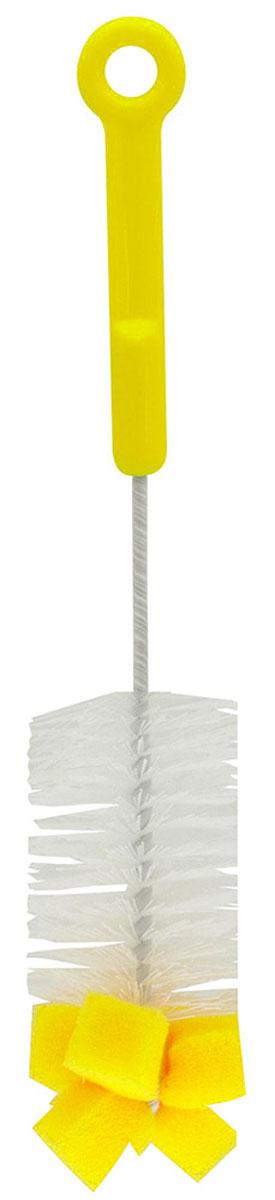 """Ершик для бутылочек """"Lubby"""" станет незаменимым атрибутом ухода за детской посудой. Благодаря щетинкам из прочного нейлона и наконечнику с губкой, он легко очищает самые труднодоступные части детских бутылочек. Он также подходит для мытья фигурных бутылочек, термосов, стаканов и другой детской посуды."""