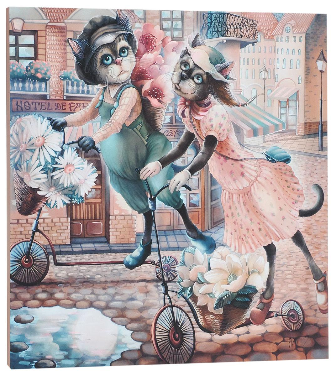 КвикДекор Картина детская Разносчики цветовПКПВШКАКартина КвикДекор Разносчики цветов - это прекрасное украшение для вашей гостиной, детской или спальни. Она привнесет в интерьер яркий акцент и сделает обстановку комфортной и уютной.Автор картины - Надежда Соколова - родилась в 1973 году в городе Дрездене. В 1986-1990 годах училась в Художественной школе города Новгорода. В 1995 году окончила с отличием рекламное отделение Новгородского училища культуры. В 2000 году защитила диплом на факультете Искусств и Технологий НовГУ имени Ярослава Мудрого. Выставляется с 1996 года. Работает в техниках: живопись, графика, батик, лаковая миниатюра, авторская кукла. Является автором оригинального стиля в миниатюре.Изделие представляет собой картину с латексной печатью на натуральном хлопчатобумажном холсте. Галерейная натяжка на деревянный подрамник выполнена очень аккуратно, а боковые части картины запечатаны тоновой заливкой. Обратная сторона подрамника содержит отверстие, благодаря которому картину можно легко закрепить на стене и подкорректировать ее положение.Картина Разносчики цветов станет отличным украшением любого помещения, а также оригинальным подарком родным и близким.