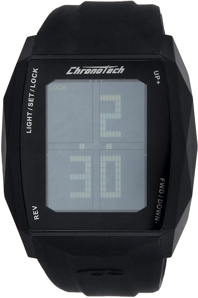 Часы наручные Chronotech Chronotouch, цвет: черный. RW0021BM8434-58AEСтильные часы Chronotech Chronotouch, выполнены из нержавеющей стали, пластика, минерального стекла и каучука. Часы оформлены символикой бренда.Часы оснащены оригинальным корпусом с сенсорным дисплеем и кварцевым механизмом, имеют степень влагозащиты равную 3 BAR. Сенсорный дисплей дополнен подсветкой. Дополнительные функции: таймер, хронограф, будильник, секундомер, автоматический календарь, отображение времени в 12-часовом или 24-часовом формате.Каучуковый ремешок часов оснащен застежкой-пряжкой, которая позволит с легкостью снимать и надевать изделие.Часы поставляются в фирменной упаковке.Часы современного дизайна Chronotech Chronotouch подчеркнут отменное чувство стиля.