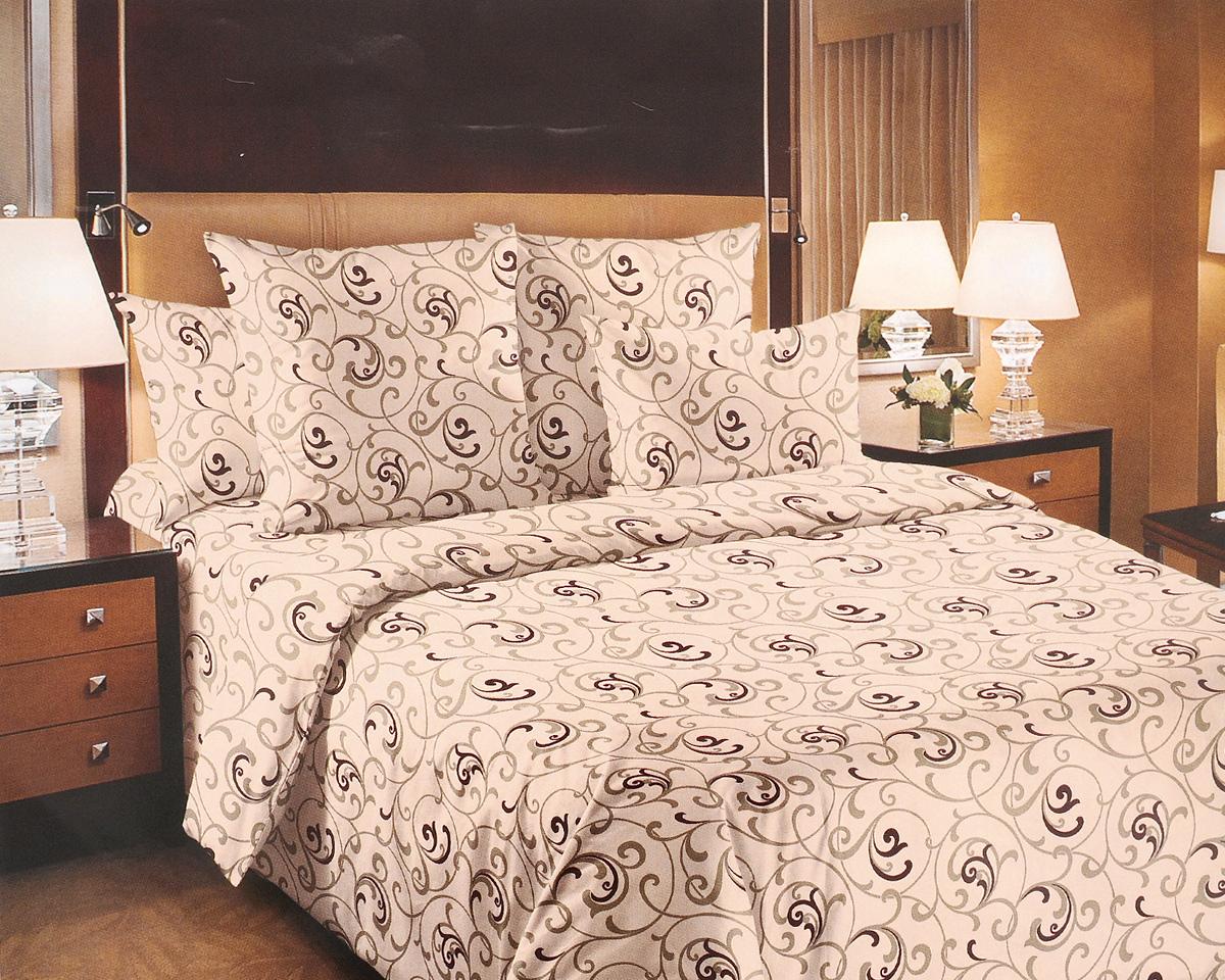 Комплект белья ТексДизайн Вензель, 1,5-спальный, наволочки 70х70, цвет: бежевый, коричневый10503Комплект постельного белья ТексДизайнВензель изготовлен из перкаля (100% хлопка)наивысшего класса. Изделие из перкали плотное и сматовой поверхностью, очень прочное в обращениии своим видом наполняет любую спальнюмягкостью и уютом. Перкаль не дает проходитьперьям и пуху, что является хорошим свойством дляпошива комплектовпостельного белья, а из-за своей толщины иизносостойкости из этого материала шьютсяпарашюты и паруса.Практичное и нежное постельное белье ТексДизайнВензель всегдабудет кстати в вашем доме.