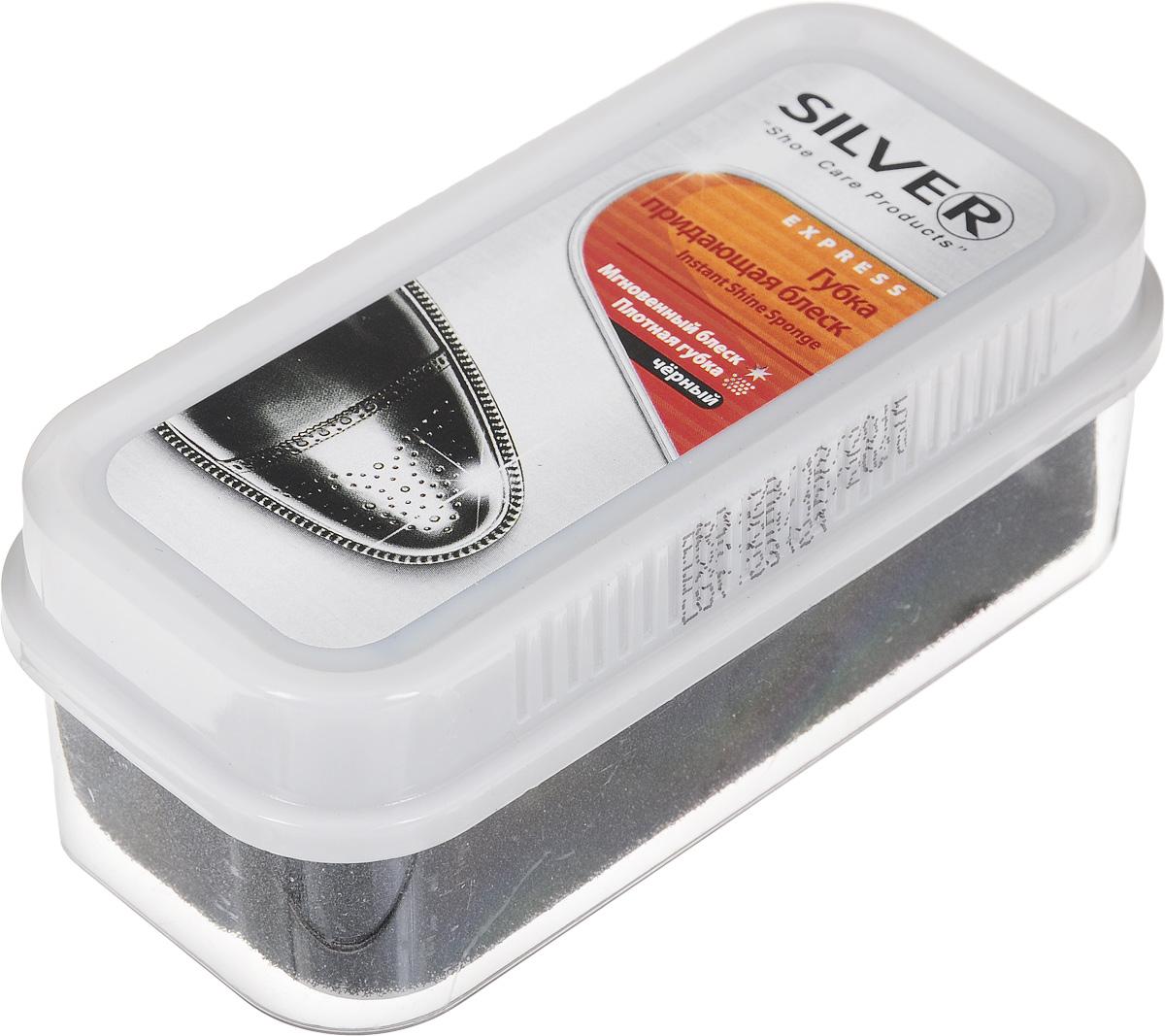 Губка для обуви Silver, придающая блеск, цвет: черный, 11 х 5 х 4,5 смDW90Губка Silver с силиконовым маслом предназначена для ухода за обувью из гладкой кожи, она придает ей естественный блеск. Не использовать для замши, нубука и текстиля.Размер: 11 х 5 х 4,5 см.Состав: > 90% силиконовое масло, Товар сертифицирован.