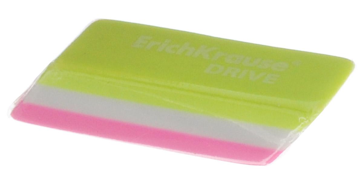 Erich Krause Ластик Drive цвет салатовый белый розовый35779_салатовый,белый,розовыйЛастик Erich Krause Drive станет незаменимым аксессуаром на рабочем столе не только школьника или студента, но и офисного работника.Ластик ярких цветов имеет форму прямоугольника со скошенными краями. При стирании стружка от ластика скатывается в единый комок, а не рассыпается по всей поверхности бумаги.