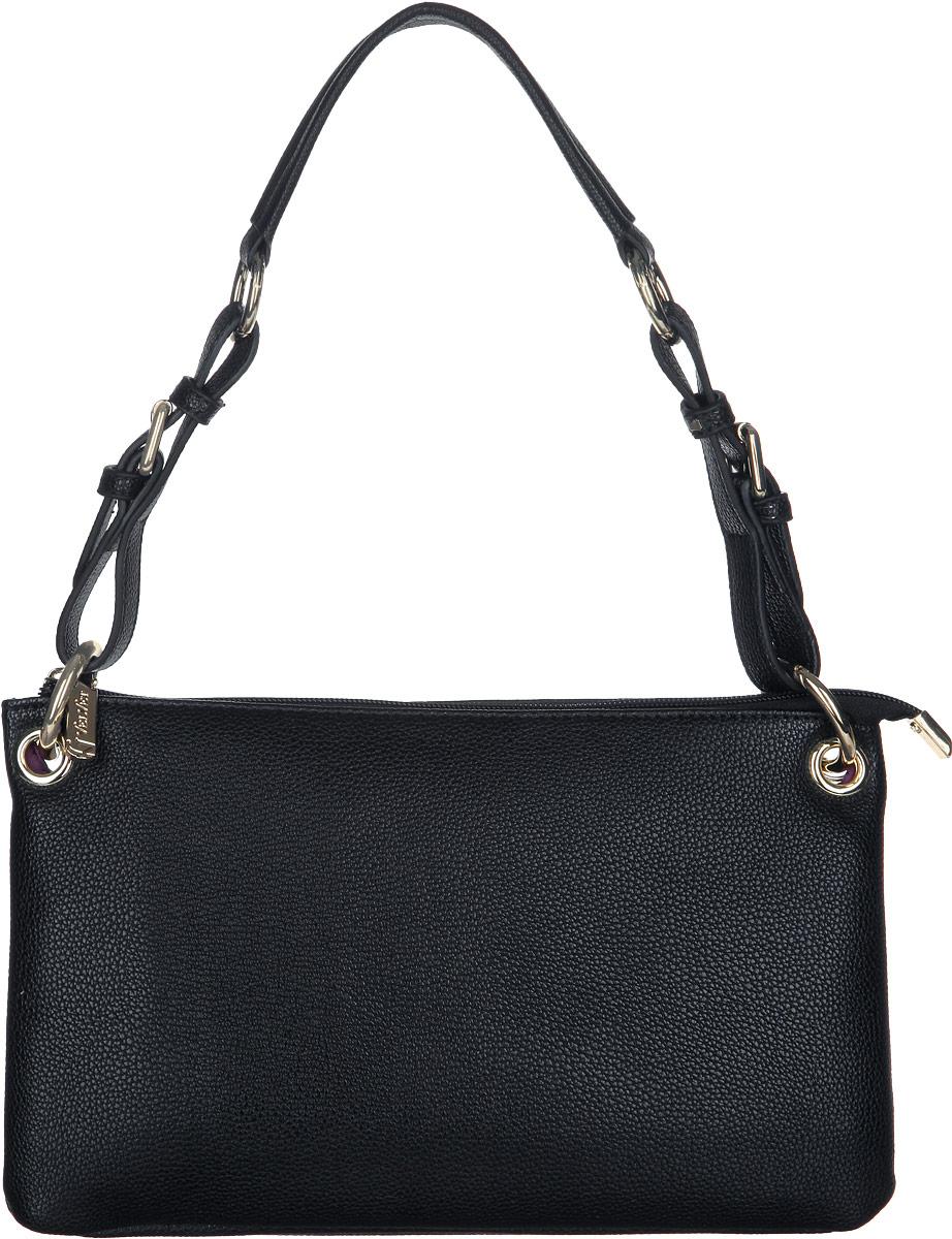 Сумка женская VelVet, цвет: черный. 951-011286-17271069с-2Стильная женская сумка VelVet выполнена из искусственной кожи с фактурным тиснением. Изделие имеет одно основное отделение, разделено пополам карманом-средником на застежке-молнии.Закрывается сумка на застежку-молнию. Внутри находятся два накладных открытых кармана и прорезной карман на застежке-молнии. Снаружи, на задней стенке расположен прорезной карман на застежке-молнии. Изделие оснащено одной съемной регулирующей ручкой. В комплект входит съемный наплечный регулируемый ремень. Роскошная сумка внесет элегантные нотки в ваш образ и подчеркнет ваше отменное чувство стиля.