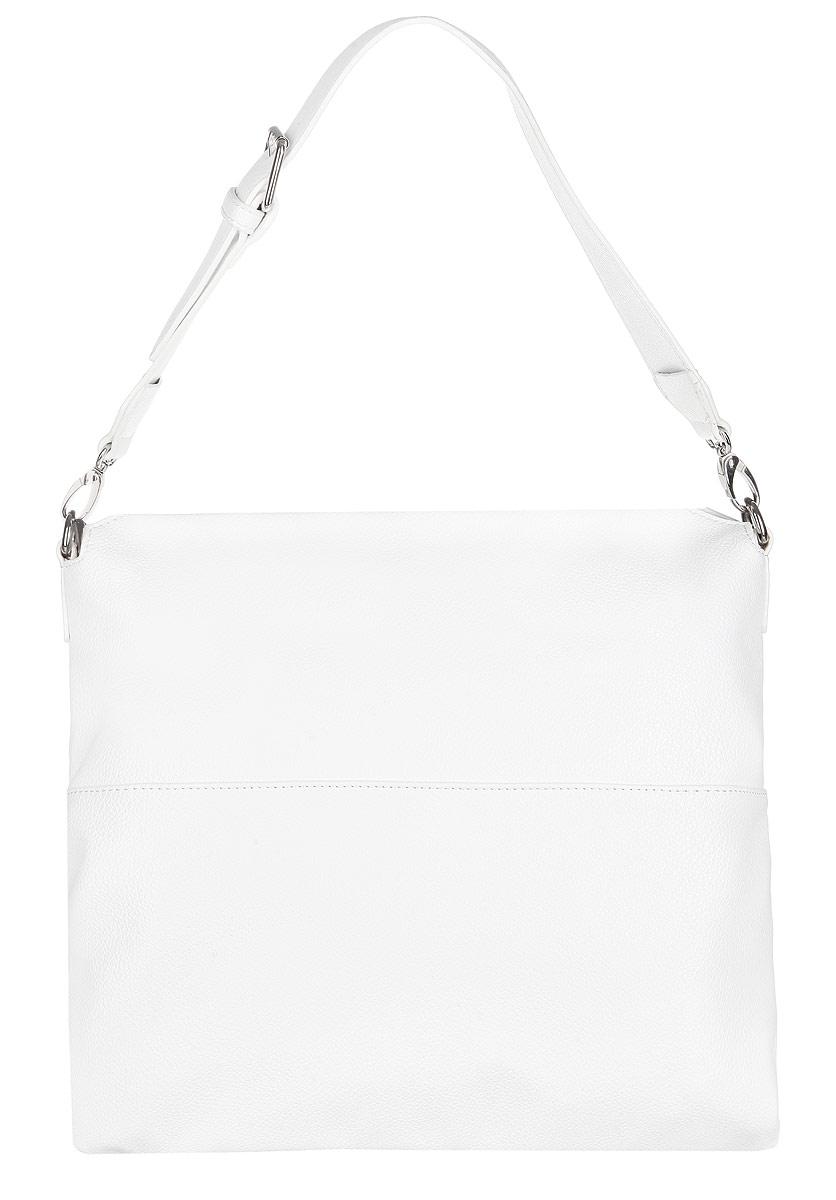 Сумка женская Calipso, цвет: белый. 435-061286-231ML597BUL/DСтильная женская сумка Calipso выполнена из искусственной кожи зернистой фактуры.Сумка состоит из одного вместительного отделения, закрывающегося на пластиковую застежку-молнию. Модель содержит врезной карман на молнии, два накладных кармана для телефона и мелочей, нашивной карман на молнии и один открытый карман, также предусмотрен ремешок с кольцом для ключей. На задней стенке изделия расположен врезной карман на металлической молнии.Сумка оснащена съемной широкой ручкой, регулируемой длины.Прилагается фирменный текстильный чехол для хранения.Сумка Calipso - это стильный аксессуар, который сделает ваш образ изысканным и завершенным.