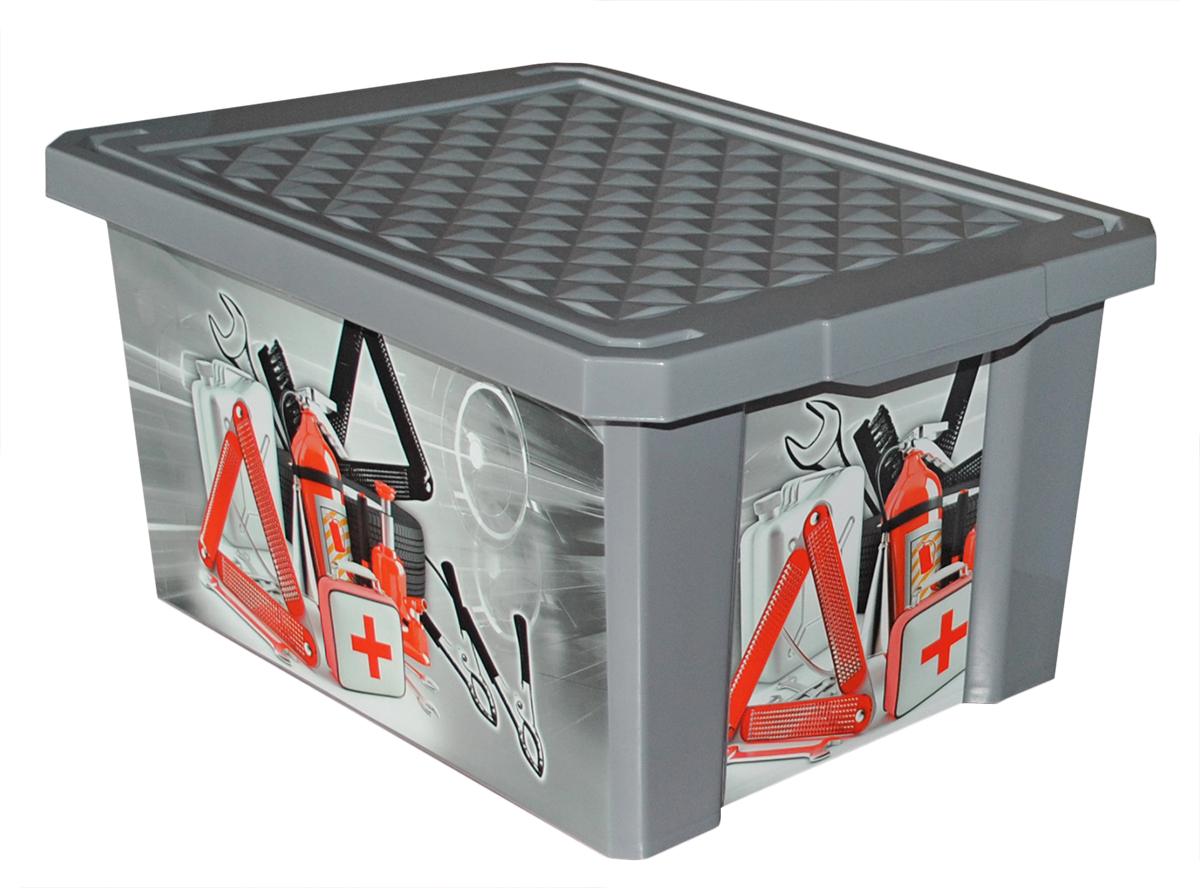 Ящик для инструментов Blocker X-Box, цвет: серый, 403 х 251 х 180 мм80621Вместительный, стильный и прочный ящик Blocker X-Box отлично подойдет для хранения автомелочей. Непрозрачный корпус и крышка помогут скрыть от глаз содержимое ящика. Идеально вписывается в багажник автомобиля или гараж.