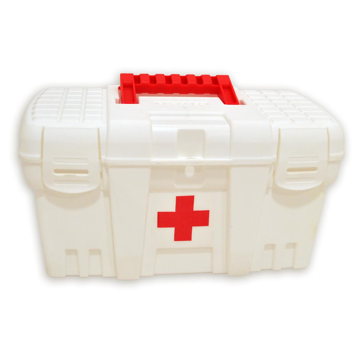 Аптечка Blocker Скорая Помощь, цвет: белый, 265 х 155 х 140 ммRG-D31SАптечка Blocker Скорая Помощь необходима в каждом доме. Высота аптечки позволяет хранить не только таблетки, но и пузырьки с жидкостью в вертикальном положении. Защелкивающиеся замки препятствуют случайному открытию. Аптечка снабжена петлей для навесного замка для защиты малышей от доступа к лекарствам.