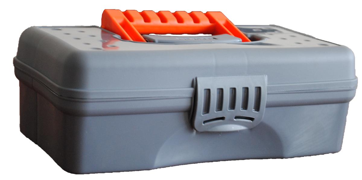 Органайзер Blocker Hobby Box, цвет: серый, оранжевый, 23,5 х 13 х 8 см12723Органайзер Blocker Hobby Box изготовлен из высококачественного прочногопластика и предназначен для хранения и переноски небольших инструментов,рыболовныхпринадлежностей и различных мелочей.Оснащен 4 секциями. Надежно закрывается при помощи пластмассовойзащелки. На крышке имеется ручка для удобной переноски изделия.Размер самой большой секции: 22,5 х 7 х 5,5 см.Размер самой маленькой секции: 6,5 х 4,5 х 5,5 см.