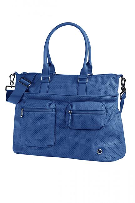 Сумка женская Samsonite, цвет: синий. 93V-31008KV996OPY/MЖенская сумка Samsonite изготовлена из полиуретана и оформлена металлической фурнитурой. Изделие содержит одно основное отделение, закрывающееся на застежку-молнию. Внутри отделения расположены два накладных кармашка для мелочей и врезной карман на молнии. Лицевая сторона сумки дополнена вместительным карманом на молнии и двумя объемными кармашками, каждый из которых закрывается на молнию. На задней стороне изделия расположен карман на застежке-молнии. Сумка оснащена двумя удобными ручками и наплечным ремнем регулируемой длины.