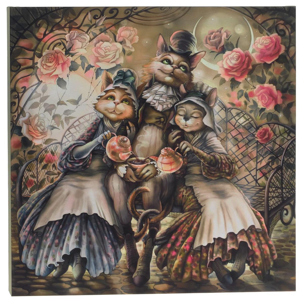 КвикДекор Картина детская Утренний чай8-913Картина КвикДекор Утренний чай художника Надежды Соколовой дополнит обстановку интерьера яркими красками и необычным оформлением.Изделие представляет собой картину с латексной печатью на натуральном хлопчатобумажном холсте. Галерейная натяжка на деревянный подрамник выполнена очень аккуратно, а боковые части картины запечатаны тоновой заливкой. Обратная сторона подрамника содержит отверстие, благодаря которому картину можно легко закрепить на стене и подкорректировать ее положение.Художник картины Надежда Соколова родилась в 1973 году в городе Дрездене. В 1986-90 годах училась в Художественной школе города Новгорода. В 1995 году окончила с отличием рекламное отделение Новгородского училища культуры. В 2000 году защитила диплом на факультете Искусств и Технологий НовГУ имени Ярослава Мудрого. Выставляется с 1996 года. Работает в техниках: живопись, графика, батик, лаковая миниатюра, авторская кукла. Является автором оригинального стиля в миниатюре. Картина Утренний чай станет отличным украшением для вашего интерьера!