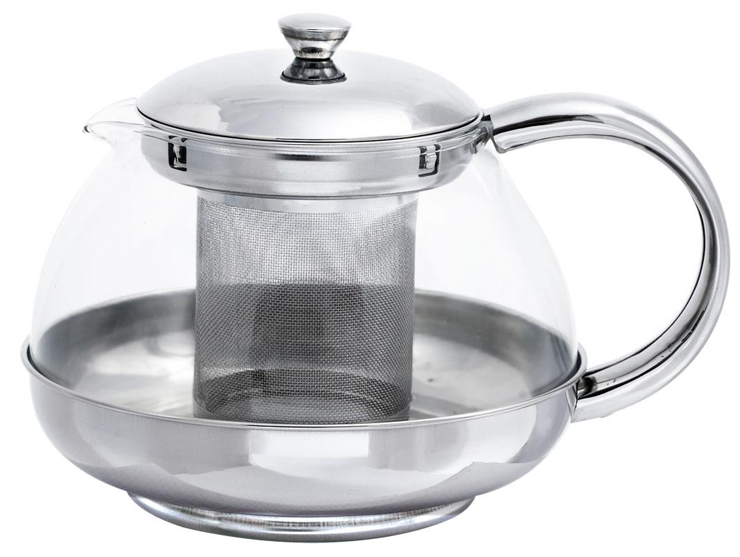 Чайник заварочный Bohmann, с фильтром, 800 мл. 9637BH115510Стеклянный заварочный чайник Bohmann с элементами из нержавеющей стали - дает возможность заварить насыщенный ароматный чай. Легкий и быстрый способ насладиться чашечкой горячего напитка.Фильтр и крышка из хромоникелевой стали. Жаропрочное стекло.Можно мыть в посудомоечной машине.Объем: 800 мл.