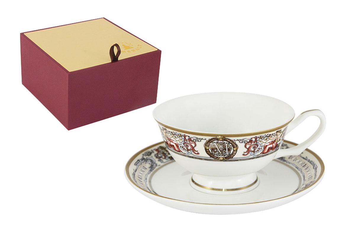 Чайная пара Emerald Мельпомена, 2 предмета115510Чайная пара Emerald Мельпомена состоит из чашки и блюдца, изготовленных из высококачественного костяного фарфора. Яркий дизайн изделий, несомненно, придется вам по вкусу.Чайная пара Emerald Мельпомена украсит ваш кухонный стол, а также станет замечательным подарком к любому празднику.Объем чашки: 200 мл.