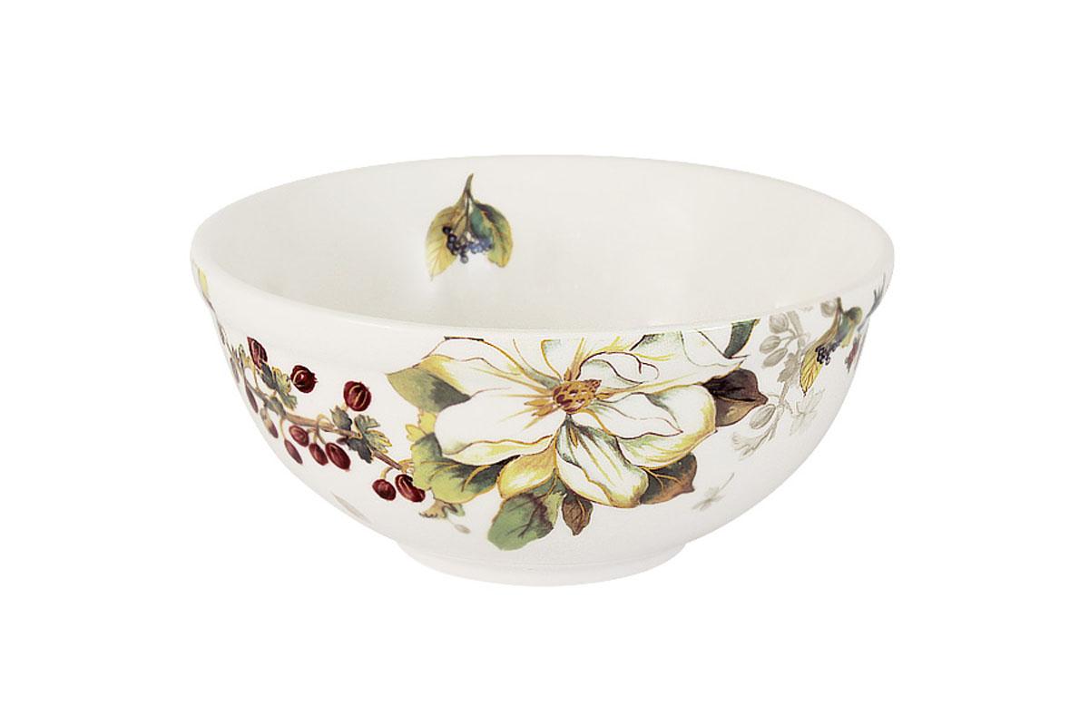 Салатник Imari Магнолия, диаметр 13 см54 009312Салатник Imari Магнолия изготовлен из высококачественной керамики и декорирован красивым цветочным рисунком. Нанесение сверкающей глазури, не содержащей свинца, придает изделию превосходный блеск и особую прочность. Салатник прекрасно подходит для сервировки салатов, закусок, солений, фруктов и ягод. Такой салатник отлично подойдет как для повседневного использования, так и для особых случаев. Благодаря качеству исполнения и красивому дизайну изделие станет отличным приобретением для вашей кухни. Не использовать в СВЧ. Мыть с применением жидких моющих средств и в посудомоечной машине. Диаметр (по верхнему краю): 13 см.