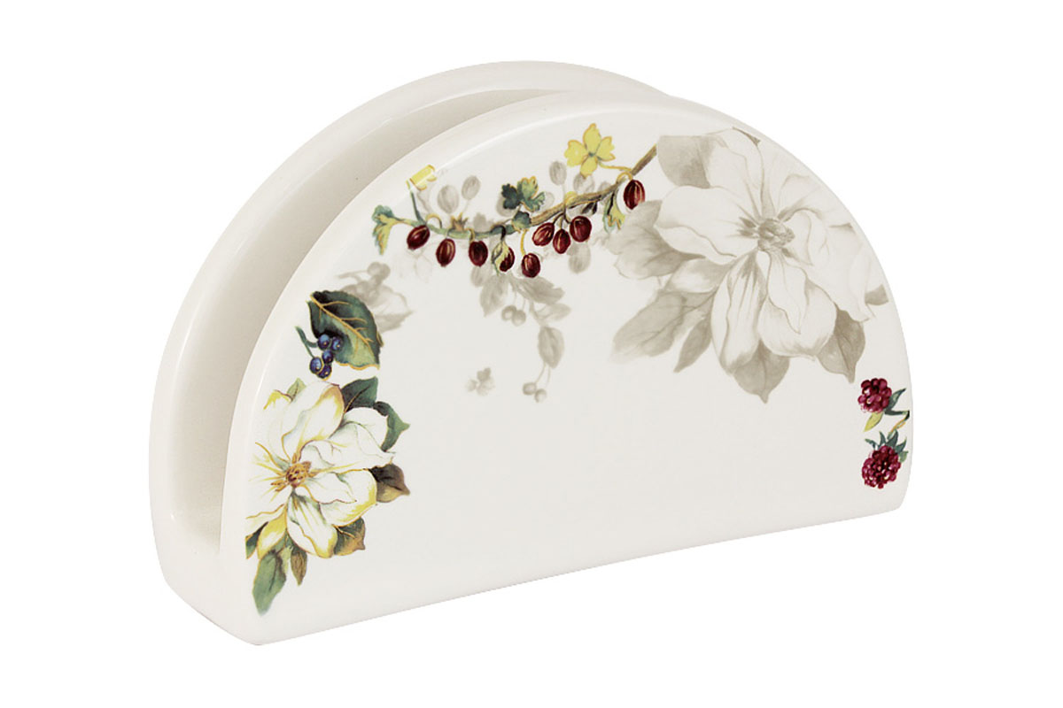 Салфетница Imari Магнолия, 16 х 5 х 10 смMO70Салфетница Imari Магнолия выполнена из высококачественной керамики и украшена изображением цветов. Салфетница идеально подойдет для украшения стола и станет отличным подарком к любому празднику. Элегантный дизайн салфетницы придется по вкусу и ценителям классики, и тем, кто предпочитает современный стиль.