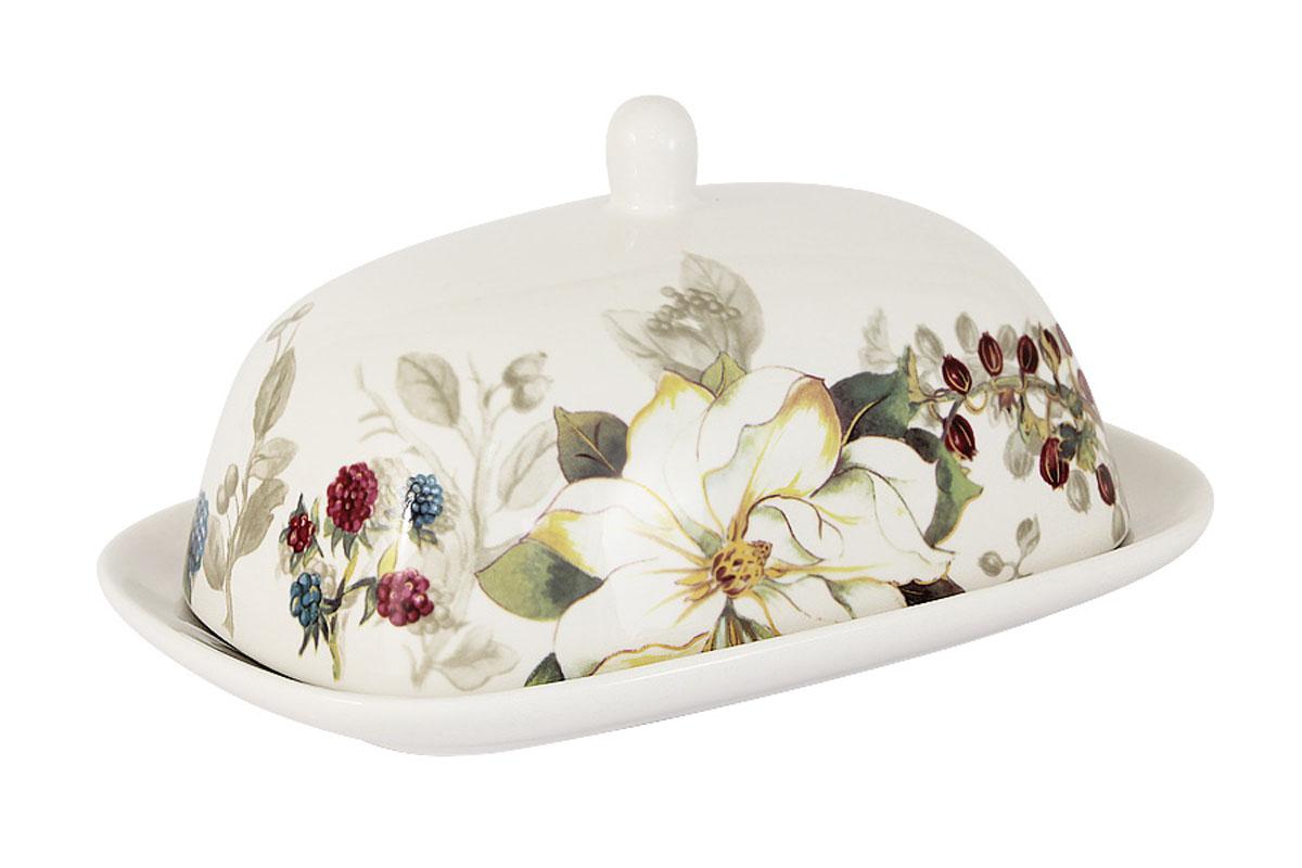 Масленка Imari Магнолия, цвет: белый, зеленый, желтый115510Великолепная масленка Imari Магнолия, выполненная из высококачественной керамики, предназначена для красивой сервировки и хранения масла. Она состоит из подноса и крышки. Масло в ней долго остается свежим, а при хранении в холодильнике не впитывает посторонние запахи. Масленка Imari Магнолия идеально подойдет для сервировки стола и станет отличным подарком к любому празднику.Можно мыть в посудомоечной машине. Не использовать в микроволновой печи.Размеры: 18,5 х 12,5 см.
