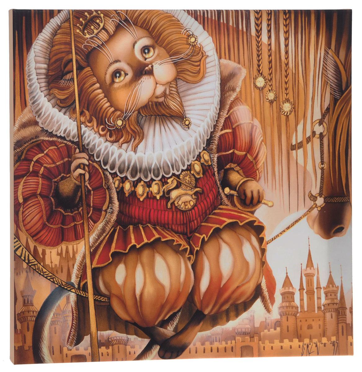 КвикДекор Картина детская Лев37440Картина КвикДекор Лев художника Надежды Соколовой дополнит обстановку интерьера яркими красками и необычным оформлением.Изделие представляет собой картину с латексной печатью на натуральном хлопчатобумажном холсте. Галерейная натяжка на деревянный подрамник выполнена очень аккуратно, а боковые части картины запечатаны тоновой заливкой. Обратная сторона подрамника содержит отверстие, благодаря которому картину можно легко закрепить на стене и подкорректировать ее положение.Художник картины Надежда Соколова родилась в 1973 году в городе Дрездене. В 1986-90 годах училась в Художественной школе города Новгорода. В 1995 году окончила с отличием рекламное отделение Новгородского училища культуры. В 2000 году защитила диплом на факультете Искусств и Технологий НовГУ имени Ярослава Мудрого. Выставляется с 1996 года. Работает в техниках: живопись, графика, батик, лаковая миниатюра, авторская кукла. Является автором оригинального стиля в миниатюре. Картина Лев отлично подойдет к интерьеру не только детской комнаты, но и гостиной.