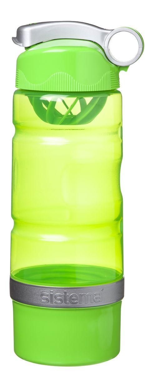 Бутылка для воды Sistema, спортивная, цвет: салатовый, 615 мл00046Бутылка для воды Sistema изготовлена из прочного пищевого пластика без содержания фенола и других вредных примесей. Бутылка оснащена специальной крышкой, которая предотвращает проливание жидкости и позволяет удобно пить напитки. С такой бутылкой вы сможете где угодно насладиться вашими любимыми напитками. Специальное кольцо позволяет присоединить ее на рюкзак.