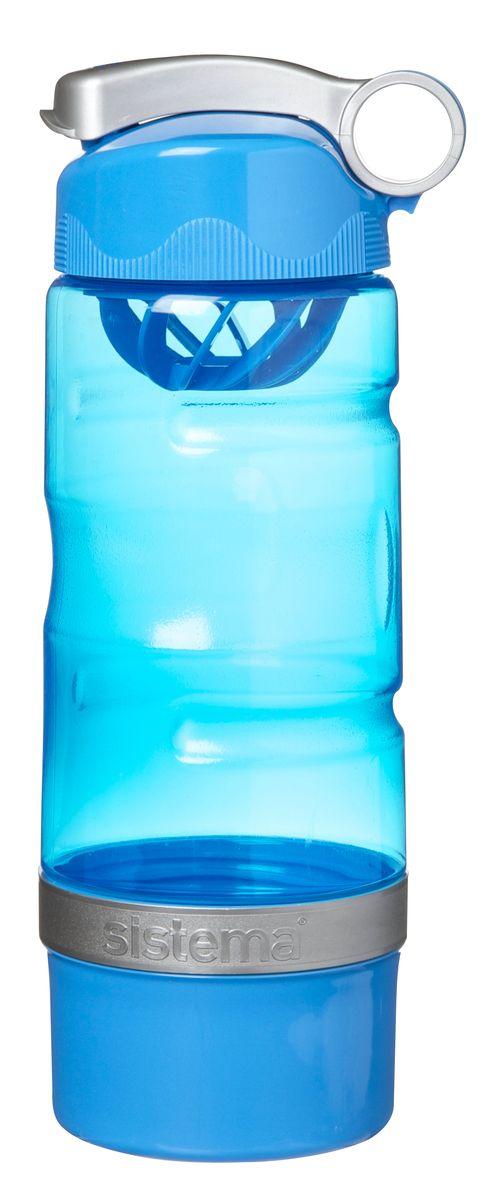 Бутылка для воды Sistema, спортивная, цвет: голубой, 615 млУТ000001705Бутылка для воды Sistema изготовлена из прочного пищевого пластика без содержания фенола и других вредных примесей. Бутылка оснащена специальной крышкой, которая предотвращает проливание жидкости и позволяет удобно пить напитки. С такой бутылкой вы сможете где угодно насладиться вашими любимыми напитками. Специальное кольцо позволяет присоединить ее на рюкзак.