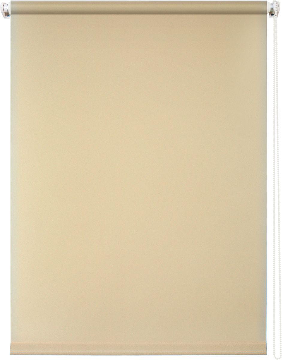 Штора рулонная Уют Плайн, цвет: бежевый, 90 х 175 см10503Штора рулонная Уют Плайн выполнена из прочного полиэстера с обработкой специальным составом, отталкивающим пыль. Ткань не выцветает, обладает отличной цветоустойчивостью и светонепроницаемостью.Штора закрывает не весь оконный проем, а непосредственно само стекло и может фиксироваться в любом положении. Она быстро убирается и надежно защищает от посторонних взглядов. Компактность помогает сэкономить пространство. Универсальная конструкция позволяет крепить штору на раму без сверления, также можно монтировать на стену, потолок, створки, в проем, ниши, на деревянные или пластиковые рамы. В комплект входят регулируемые установочные кронштейны и набор для боковой фиксации шторы. Возможна установка с управлением цепочкой как справа, так и слева. Изделие при желании можно самостоятельно уменьшить. Такая штора станет прекрасным элементом декора окна и гармонично впишется в интерьер любого помещения.