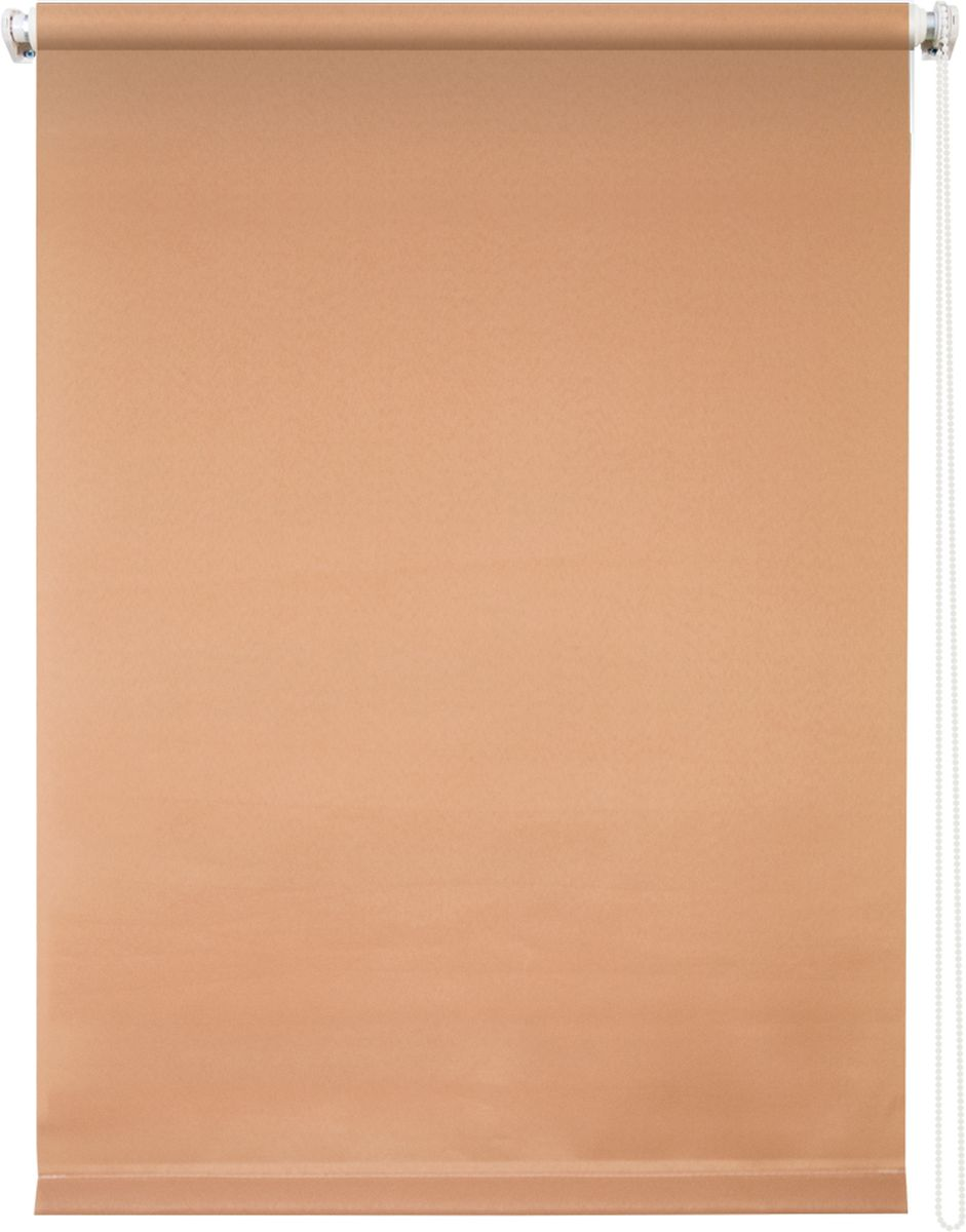 Штора рулонная Уют Плайн, цвет: кофейный, 50 х 175 см666023Штора рулонная Уют Плайн выполнена из прочного полиэстера с обработкой специальным составом, отталкивающим пыль. Ткань не выцветает, обладает отличной цветоустойчивостью и светонепроницаемостью.Штора закрывает не весь оконный проем, а непосредственно само стекло и может фиксироваться в любом положении. Она быстро убирается и надежно защищает от посторонних взглядов. Компактность помогает сэкономить пространство. Универсальная конструкция позволяет крепить штору на раму без сверления, также можно монтировать на стену, потолок, створки, в проем, ниши, на деревянные или пластиковые рамы. В комплект входят регулируемые установочные кронштейны и набор для боковой фиксации шторы. Возможна установка с управлением цепочкой как справа, так и слева. Изделие при желании можно самостоятельно уменьшить. Такая штора станет прекрасным элементом декора окна и гармонично впишется в интерьер любого помещения.