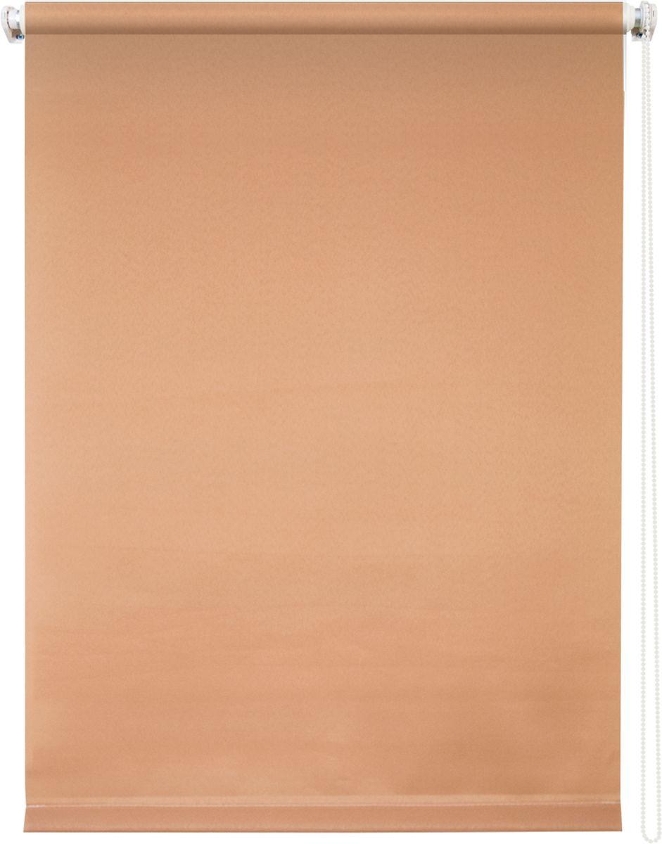 Штора рулонная Уют Плайн, цвет: кофейный, 70 х 175 см1004900000360Штора рулонная Уют Плайн выполнена из прочного полиэстера с обработкой специальным составом, отталкивающим пыль. Ткань не выцветает, обладает отличной цветоустойчивостью и светонепроницаемостью.Штора закрывает не весь оконный проем, а непосредственно само стекло и может фиксироваться в любом положении. Она быстро убирается и надежно защищает от посторонних взглядов. Компактность помогает сэкономить пространство. Универсальная конструкция позволяет крепить штору на раму без сверления, также можно монтировать на стену, потолок, створки, в проем, ниши, на деревянные или пластиковые рамы. В комплект входят регулируемые установочные кронштейны и набор для боковой фиксации шторы. Возможна установка с управлением цепочкой как справа, так и слева. Изделие при желании можно самостоятельно уменьшить. Такая штора станет прекрасным элементом декора окна и гармонично впишется в интерьер любого помещения.