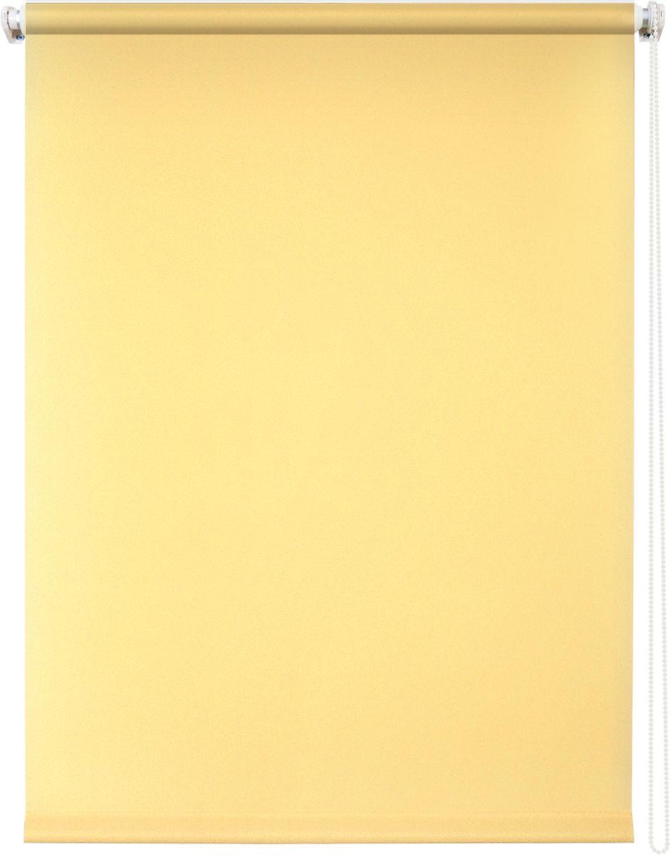 Штора рулонная Уют Плайн, цвет: светло-желтый, 120 х 175 смIRK-503Штора рулонная Уют Плайн выполнена из прочного полиэстера с обработкой специальным составом, отталкивающим пыль. Ткань не выцветает, обладает отличной цветоустойчивостью и светонепроницаемостью.Штора закрывает не весь оконный проем, а непосредственно само стекло и может фиксироваться в любом положении. Она быстро убирается и надежно защищает от посторонних взглядов. Компактность помогает сэкономить пространство. Универсальная конструкция позволяет крепить штору на раму без сверления, также можно монтировать на стену, потолок, створки, в проем, ниши, на деревянные или пластиковые рамы. В комплект входят регулируемые установочные кронштейны и набор для боковой фиксации шторы. Возможна установка с управлением цепочкой как справа, так и слева. Изделие при желании можно самостоятельно уменьшить. Такая штора станет прекрасным элементом декора окна и гармонично впишется в интерьер любого помещения.