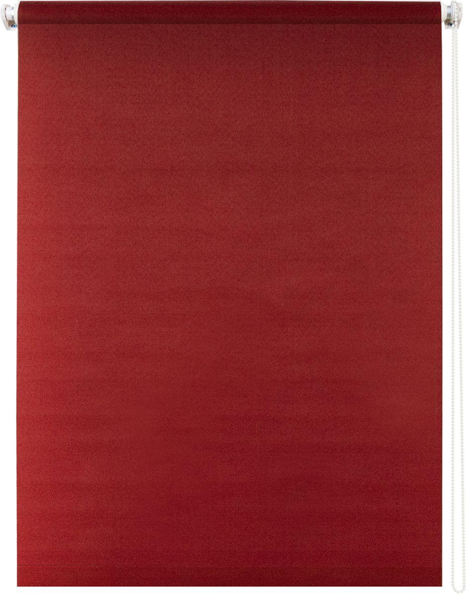Штора рулонная Уют Плайн, цвет: красный, 70 х 175 см1004900000360Штора рулонная Уют Плайн выполнена из прочного полиэстера с обработкой специальным составом, отталкивающим пыль. Ткань не выцветает, обладает отличной цветоустойчивостью и светонепроницаемостью.Штора закрывает не весь оконный проем, а непосредственно само стекло и может фиксироваться в любом положении. Она быстро убирается и надежно защищает от посторонних взглядов. Компактность помогает сэкономить пространство. Универсальная конструкция позволяет крепить штору на раму без сверления, также можно монтировать на стену, потолок, створки, в проем, ниши, на деревянные или пластиковые рамы. В комплект входят регулируемые установочные кронштейны и набор для боковой фиксации шторы. Возможна установка с управлением цепочкой как справа, так и слева. Изделие при желании можно самостоятельно уменьшить. Такая штора станет прекрасным элементом декора окна и гармонично впишется в интерьер любого помещения.