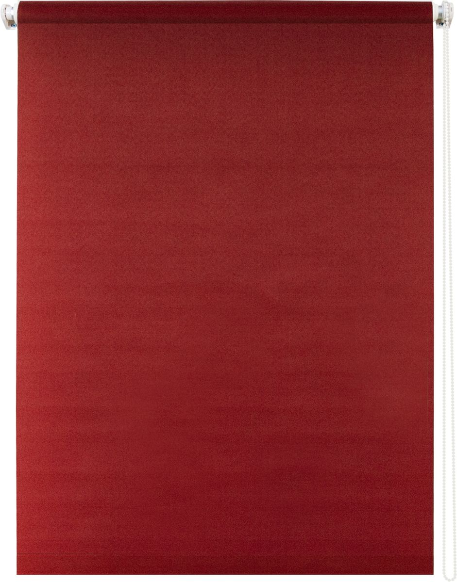 Штора рулонная Уют Плайн, цвет: красный, 140 х 175 смCLP446Штора рулонная Уют Плайн выполнена из прочного полиэстера с обработкой специальным составом, отталкивающим пыль. Ткань не выцветает, обладает отличной цветоустойчивостью и светонепроницаемостью.Штора закрывает не весь оконный проем, а непосредственно само стекло и может фиксироваться в любом положении. Она быстро убирается и надежно защищает от посторонних взглядов. Компактность помогает сэкономить пространство. Универсальная конструкция позволяет крепить штору на раму без сверления, также можно монтировать на стену, потолок, створки, в проем, ниши, на деревянные или пластиковые рамы. В комплект входят регулируемые установочные кронштейны и набор для боковой фиксации шторы. Возможна установка с управлением цепочкой как справа, так и слева. Изделие при желании можно самостоятельно уменьшить. Такая штора станет прекрасным элементом декора окна и гармонично впишется в интерьер любого помещения.