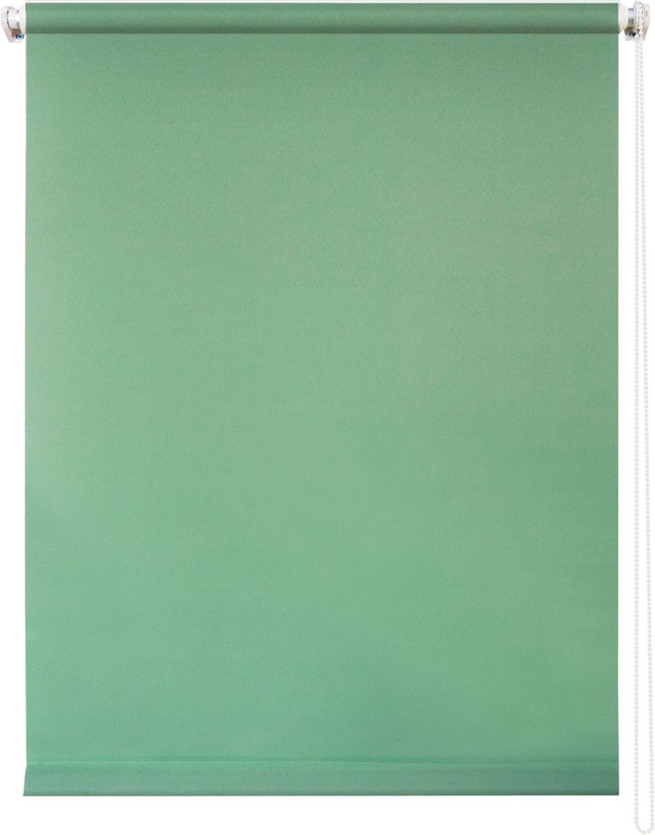 Штора рулонная Уют Плайн, цвет: светло-зеленый, 120 х 175 смIRK-503Штора рулонная Уют Плайн выполнена из прочного полиэстера с обработкой специальным составом, отталкивающим пыль. Ткань не выцветает, обладает отличной цветоустойчивостью и светонепроницаемостью.Штора закрывает не весь оконный проем, а непосредственно само стекло и может фиксироваться в любом положении. Она быстро убирается и надежно защищает от посторонних взглядов. Компактность помогает сэкономить пространство. Универсальная конструкция позволяет крепить штору на раму без сверления, также можно монтировать на стену, потолок, створки, в проем, ниши, на деревянные или пластиковые рамы. В комплект входят регулируемые установочные кронштейны и набор для боковой фиксации шторы. Возможна установка с управлением цепочкой как справа, так и слева. Изделие при желании можно самостоятельно уменьшить. Такая штора станет прекрасным элементом декора окна и гармонично впишется в интерьер любого помещения.