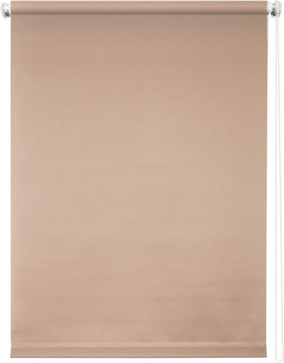 Штора рулонная Уют Плайн, цвет: какао, 120 х 175 см00000008786Штора рулонная Уют Плайн выполнена из прочного полиэстера с обработкой специальным составом, отталкивающим пыль. Ткань не выцветает, обладает отличной цветоустойчивостью и светонепроницаемостью.Штора закрывает не весь оконный проем, а непосредственно само стекло и может фиксироваться в любом положении. Она быстро убирается и надежно защищает от посторонних взглядов. Компактность помогает сэкономить пространство. Универсальная конструкция позволяет крепить штору на раму без сверления, также можно монтировать на стену, потолок, створки, в проем, ниши, на деревянные или пластиковые рамы. В комплект входят регулируемые установочные кронштейны и набор для боковой фиксации шторы. Возможна установка с управлением цепочкой как справа, так и слева. Изделие при желании можно самостоятельно уменьшить. Такая штора станет прекрасным элементом декора окна и гармонично впишется в интерьер любого помещения.