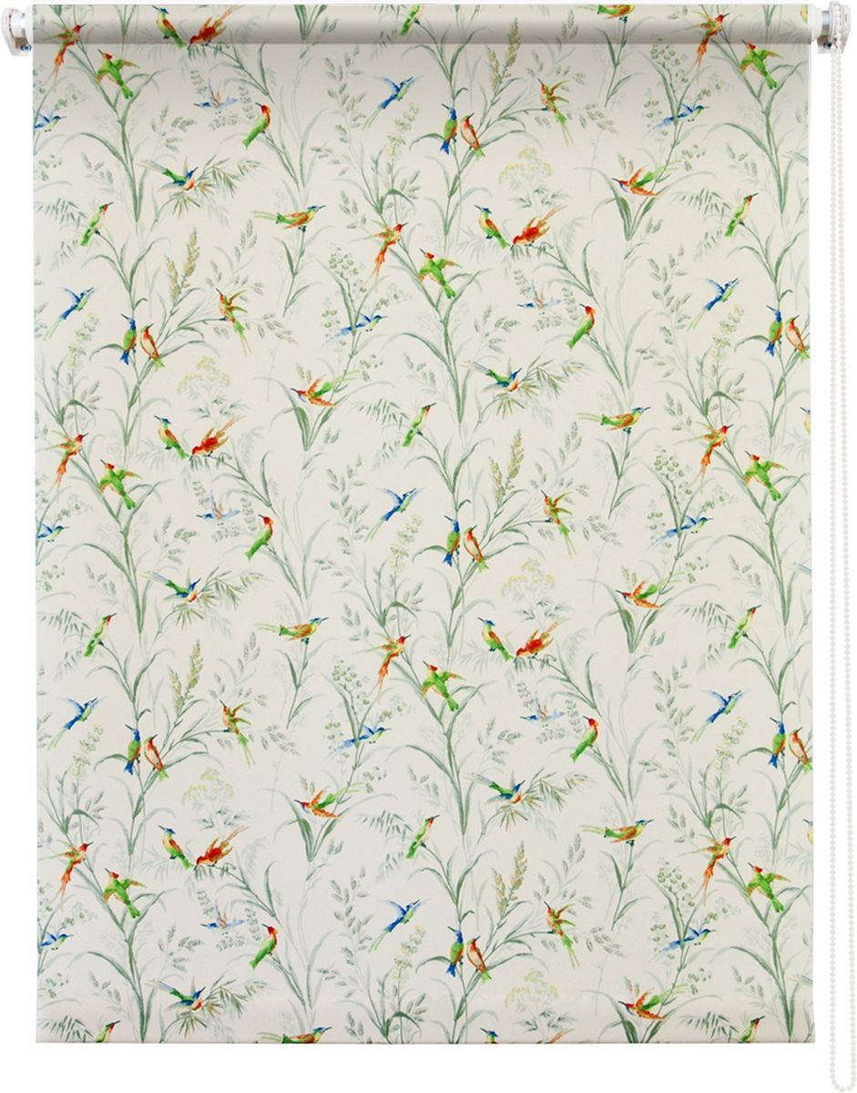 Штора рулонная Уют Парадиз, цвет: белый, 120 х 175 см531-401Штора рулонная Уют Парадиз выполнена из прочного полиэстера с обработкой специальным составом, отталкивающим пыль. Ткань не выцветает, обладает отличной цветоустойчивостью и хорошей светонепроницаемостью. Изделие оформлено изысканным рисунком в виде птичек, сидящих на ветках, отлично подойдет для спальни, гостиной, кухни. Штора закрывает не весь оконный проем, а непосредственно само стекло и может фиксироваться в любом положении. Она быстро убирается и надежно защищает от посторонних взглядов. Компактность помогает сэкономить пространство. Универсальная конструкция позволяет крепить штору на раму без сверления, также можно монтировать на стену, потолок, створки, в проем, ниши, на деревянные или пластиковые рамы. В комплект входят регулируемые установочные кронштейны и набор для боковой фиксации шторы. Возможна установка с управлением цепочкой как справа, так и слева. Изделие при желании можно самостоятельно уменьшить. Такая штора станет прекрасным элементом декора окна и гармонично впишется в интерьер любого помещения.