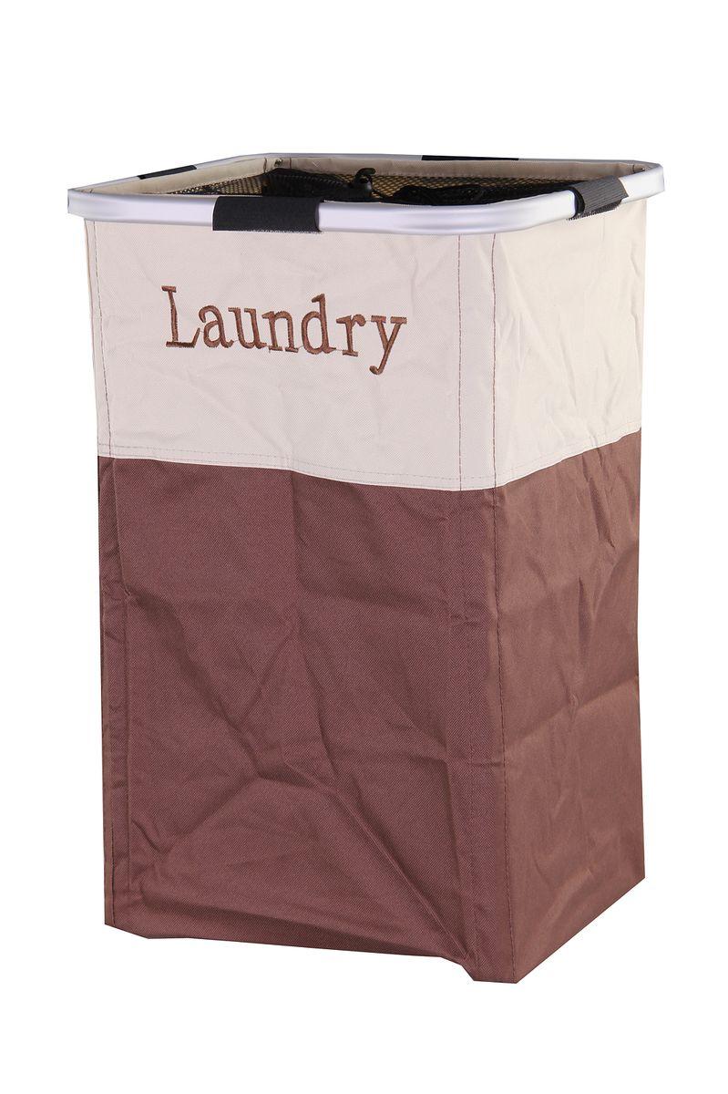 Корзина для белья Empire of Dishes, цвет: коричневый, бежевый, 53 x 54 см. IM99-511574-0060Корзины для белья являются одним из важнейших аксессуаров любой ванной комнаты. Они помогают экономить пространство, а также могут быть использованы в качестве декоративного элемента. Корзина для белья выполнена из ткани.Размер корзины: 53 x 54 см.