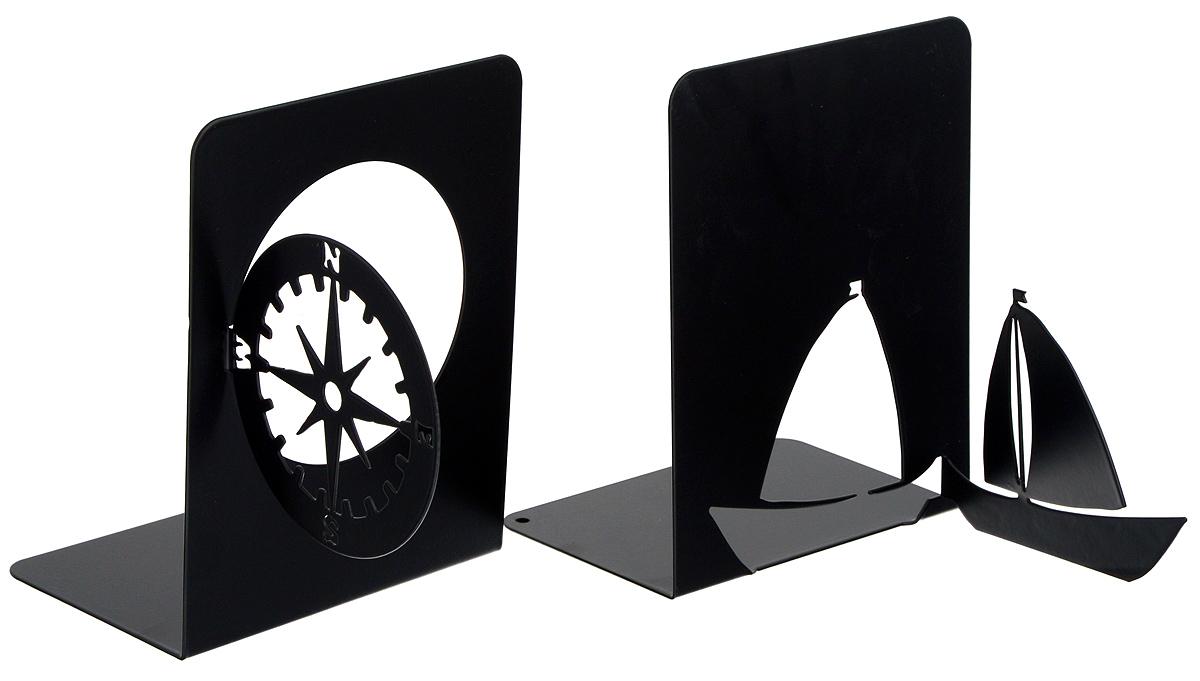 Подставка-ограничитель декоративная для книг Феникс-Презент Навигация, 2 шт54 009312Декоративная подставка-ограничитель Феникс-Презент Навигация, изготовленная из металла, состоит из двух частей, с помощью которых можно подпирать книги с двух сторон. Изделия оформлены декоративными фигурками в виде компаса и корабля, а также снабжены противоскользящими подложками из этиленвинилацетата. Между ограничителями можно поместить неограниченное количество книг. Подставка-ограничитель для книг Феникс-Презент Навигация - это не только подставка, но и интересный элемент декора, который ярко дополнит интерьер помещения. Размер подставок-ограничителей: 17 х 12 х 15 см; 17,5 х 12 х 15 см.Комплектация: 2 шт.