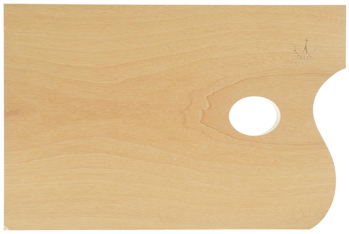 """Прямоугольная палитра """"Cappelletto"""" изготовлена из высококачественного дерева бука и предназначена для смешивания красок. Изделие покрыто специальным защитным составом, что позволяет легко очистить инструмент после работы. Такая палитра станет незаменимым инструментом для художника. Размер палитры: 30 х 20 см."""