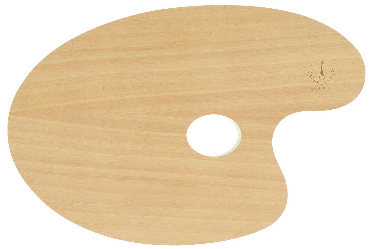 """Овальная палитра """"Cappelletto"""" изготовлена из высококачественного дерева бука и предназначена для смешивания красок. Изделие покрыто специальным защитным составом, что позволяет легко очистить инструмент после работы. Такая палитра станет незаменимым инструментом для художника. Размер палитры: 29,5 х 19,5 см."""