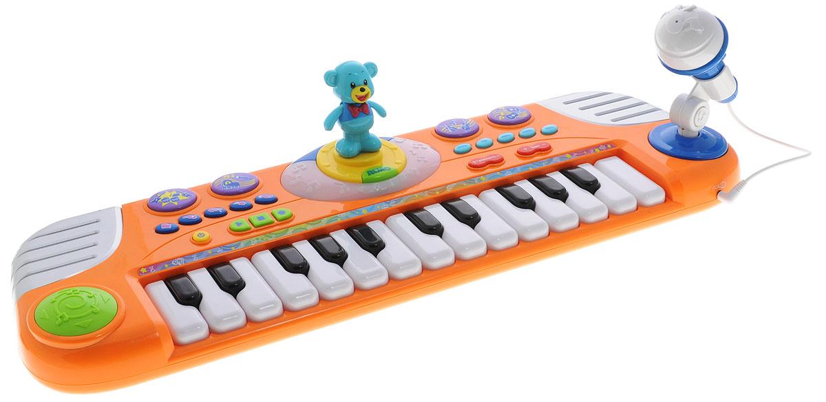 Играем вместе Электропианино Маша и Медведь цвет оранжевый - Музыкальные инструменты