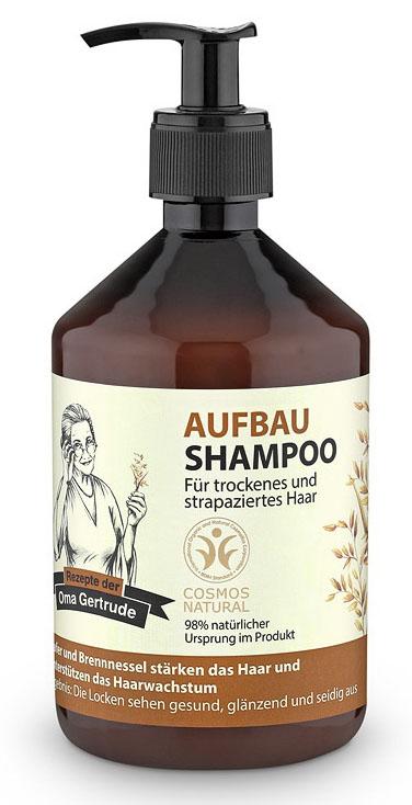Рецепты бабушки Гертруды Шампунь для волос восстанавливающий, 500 млFS-00897В состав шампуня входят природные компоненты благодаря чему он бережно очищает и ухаживает за сухими и поврежденными волосами, восстанавливает структуру, возвращая здоровье и природный блеск. Органический экстракт овса содержит необходимые витамины и аминокислоты, которые способствуют интенсивному увлажнению и укреплению волос, делая их более гладкими и сияющими. Органический экстракт крапивы содержит витамины, органические кислоты, воск и фитонциды, которые способствуют улучшению структуры волос и ускорению их роста. Особенности состава: 98% ингредиентов натурального происхождения, Овес и крапива хорошо подходят для укрепления волос, усиления их роста. Результат: локоны выглядят здоровыми, блестящими и шелковистыми.